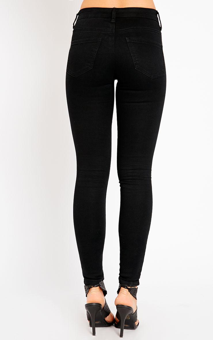 Chloe Black Ankle Grazer Skinny Jean 2