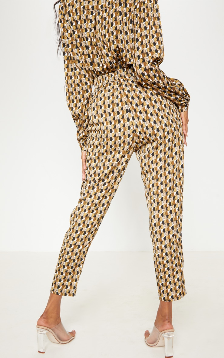 Multi Geo Print Cigarette Trouser 4