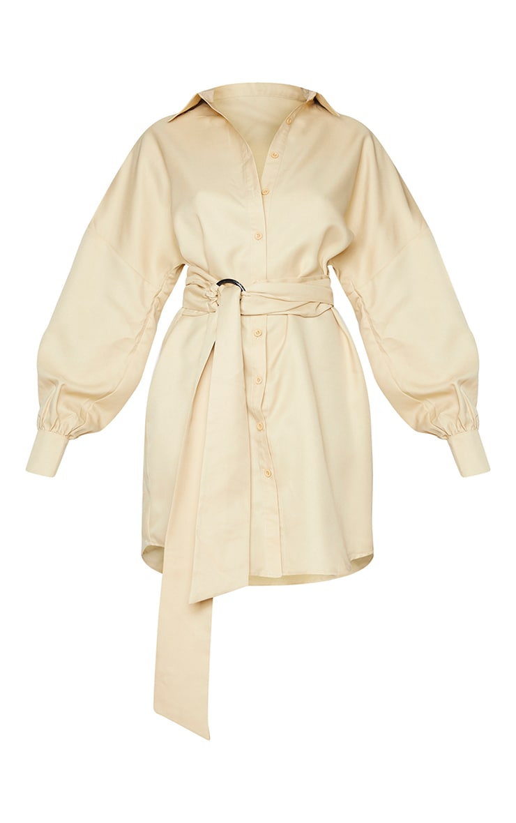 Stone Belted Tie Shirt Dress 5