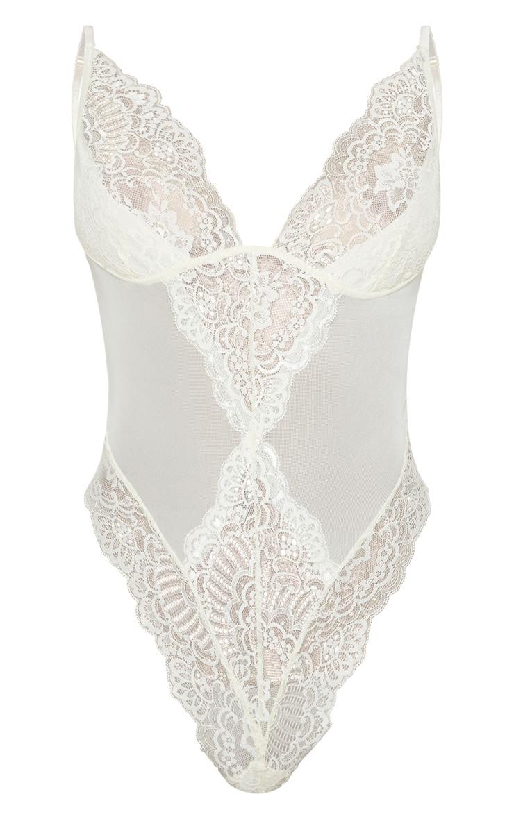 Cream Scallop Lace Body 3