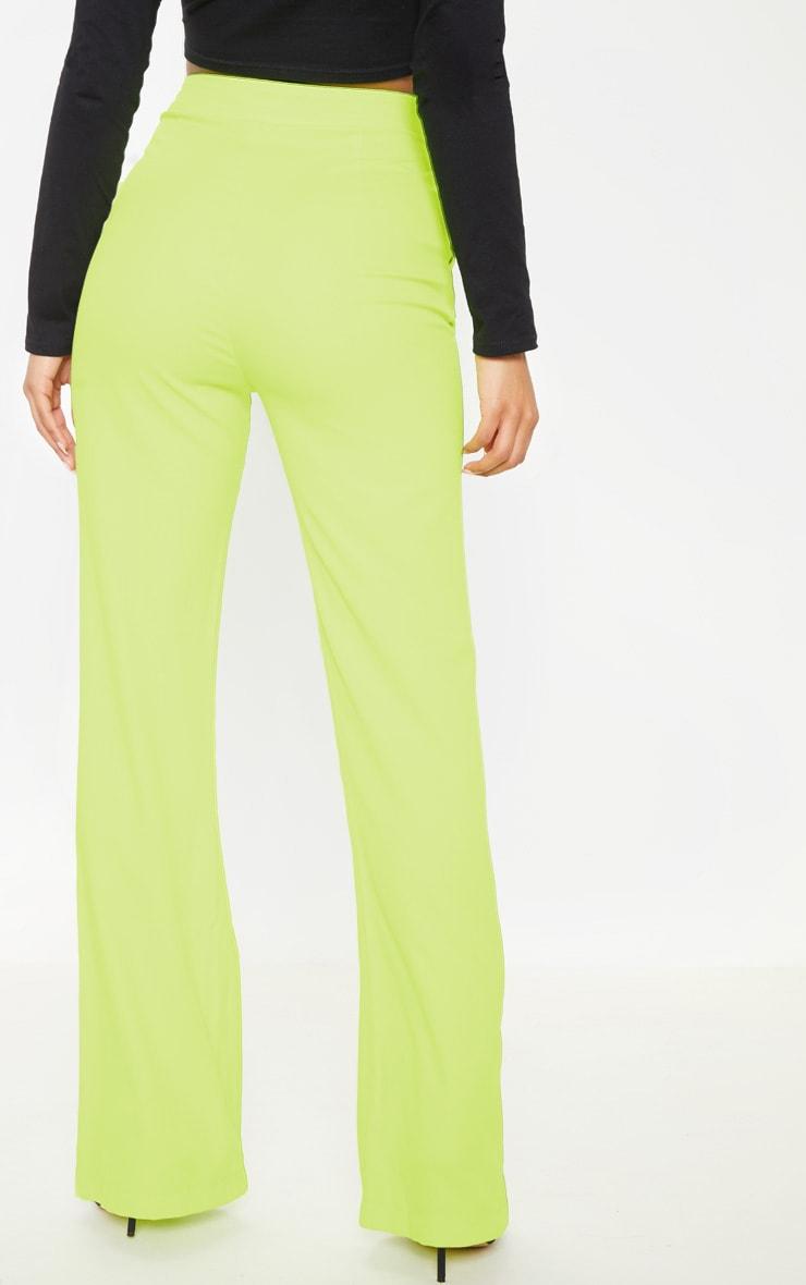 Neon Lime Wide Leg Pants  4