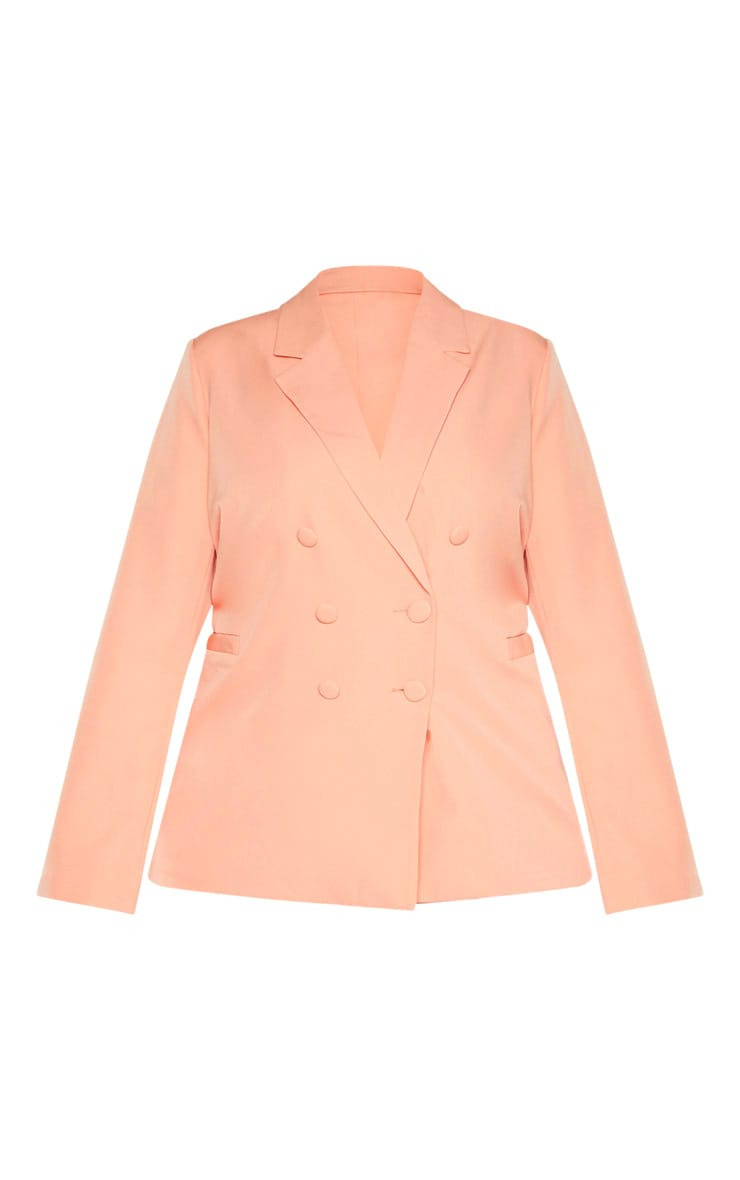 Plus Peach Oversized Blazer 3