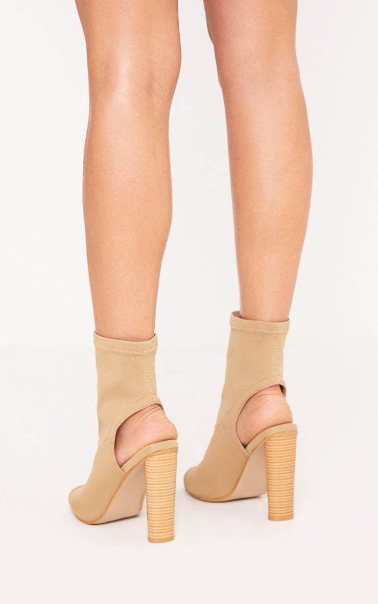 Cassidy Nude Knitted Cut Out Heels 4