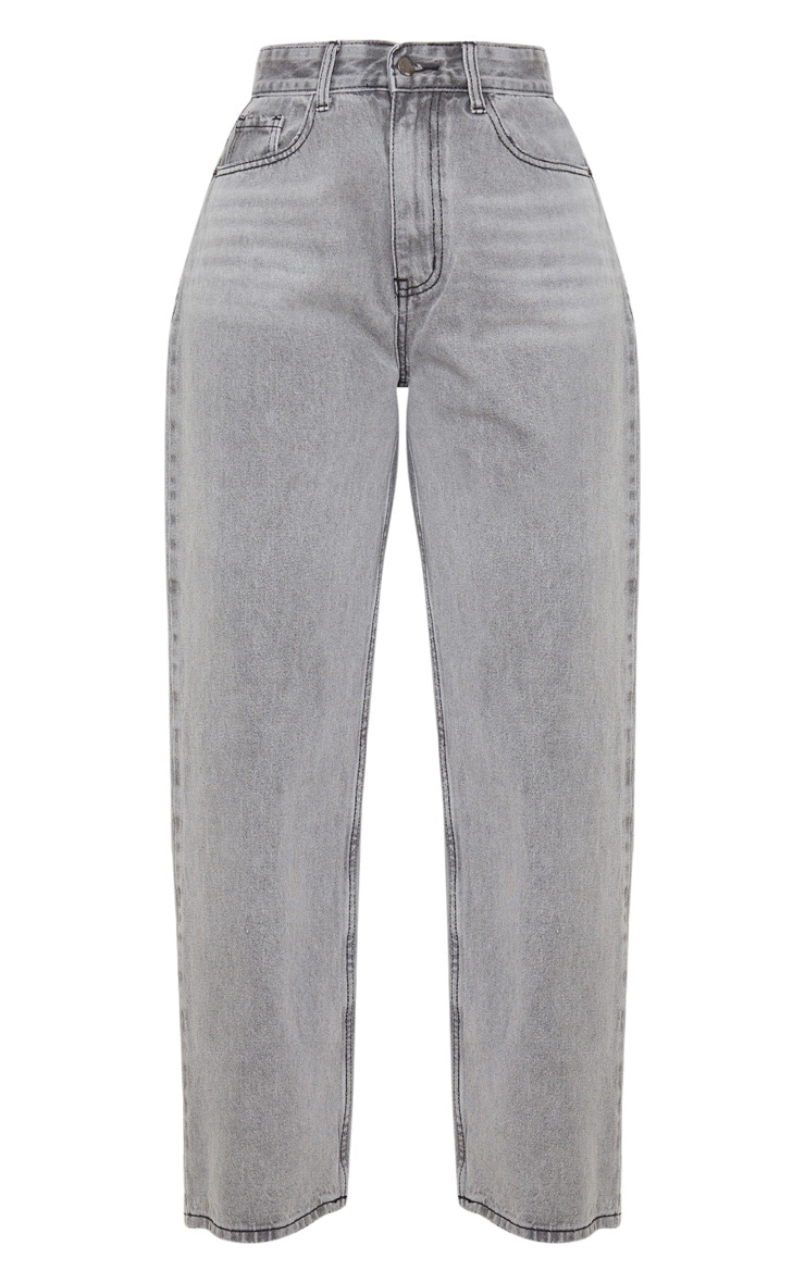 Washed Grey Baggy Low Rise Boyfriend Jeans 3