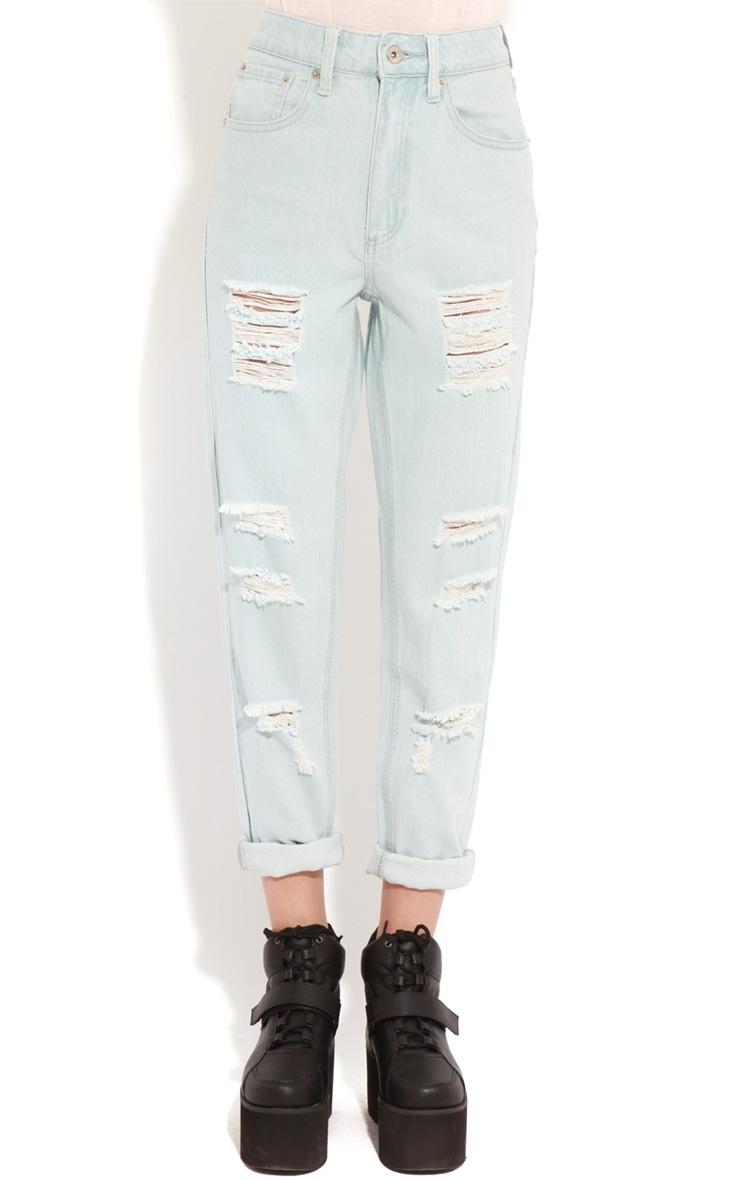 Rhianne Blue  Ripped Boyfriend Jeans  3