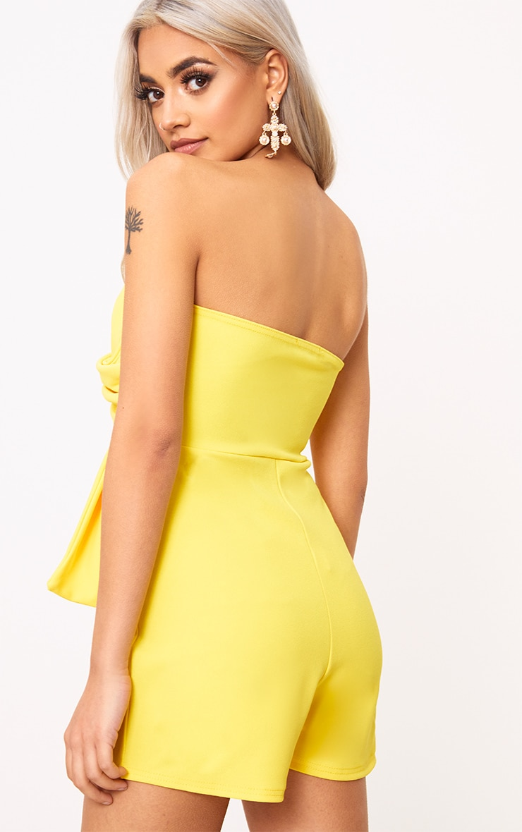 Yellow Bow Bardot Playsuit 2