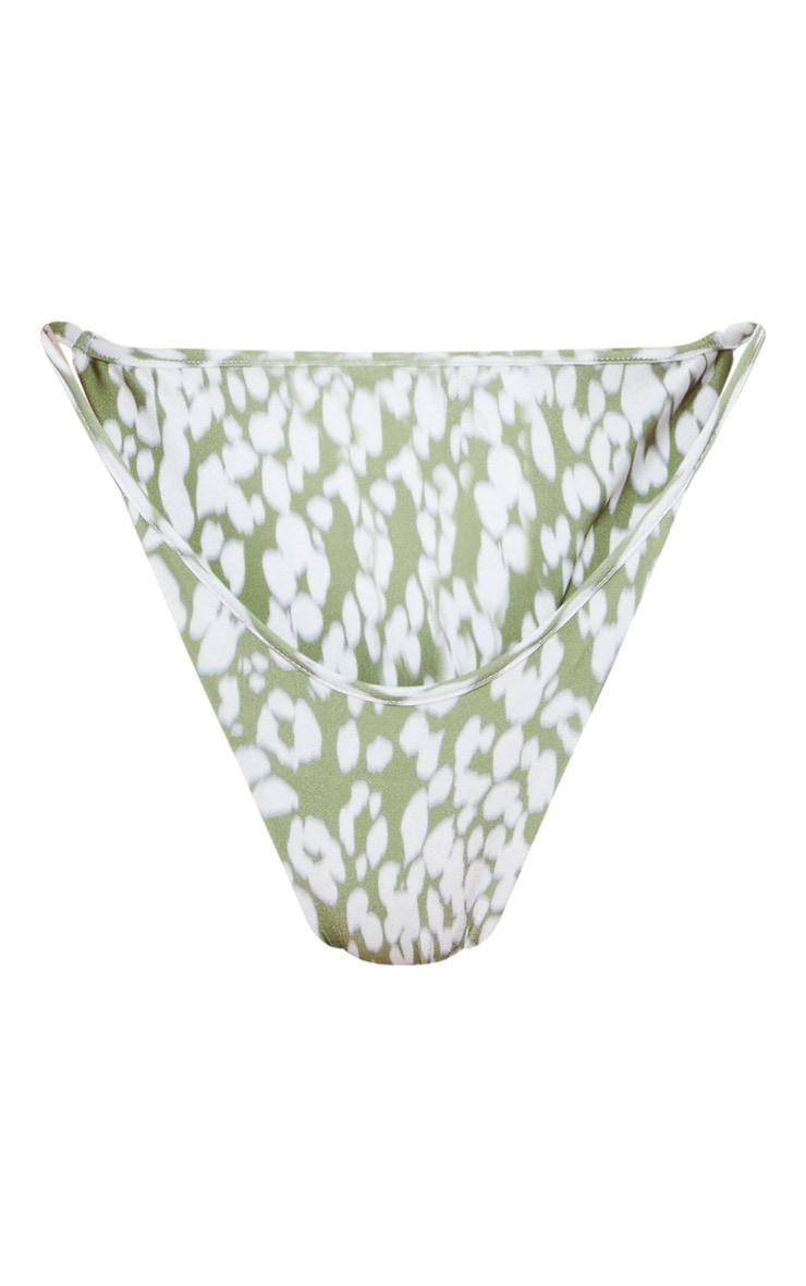 Green Blurred Cheetah Tanga Bikini Bottom 6