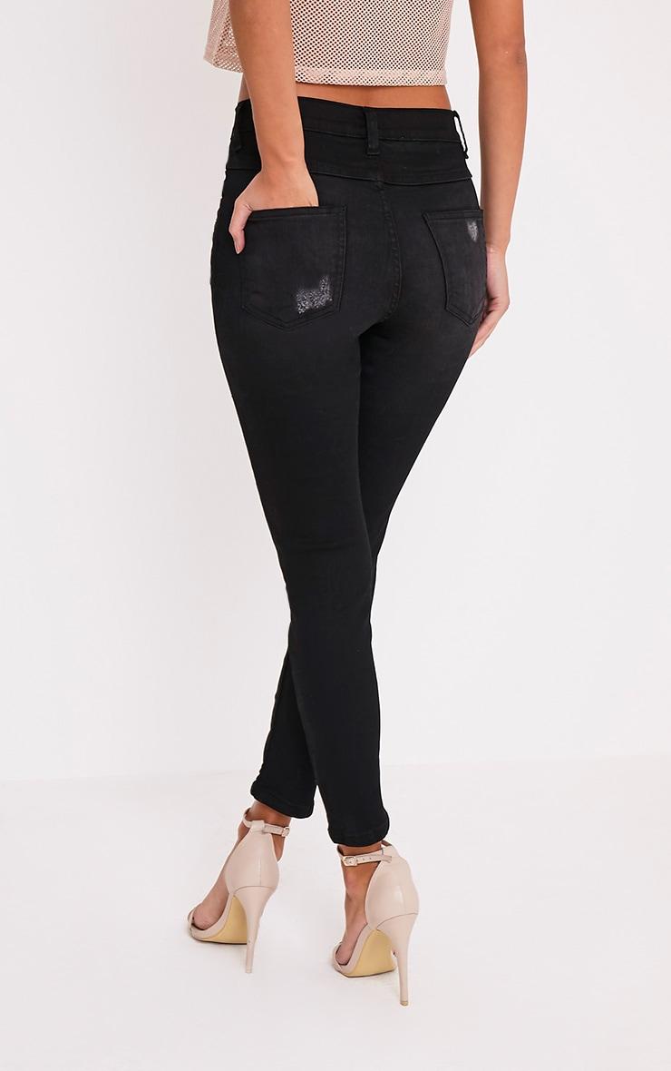 Vale jean skinny noir aspect vieilli 4