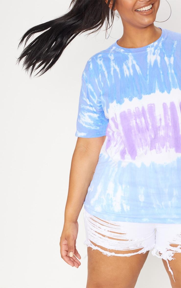 Plus Blue Tie Dye Oversized T-Shirt 5