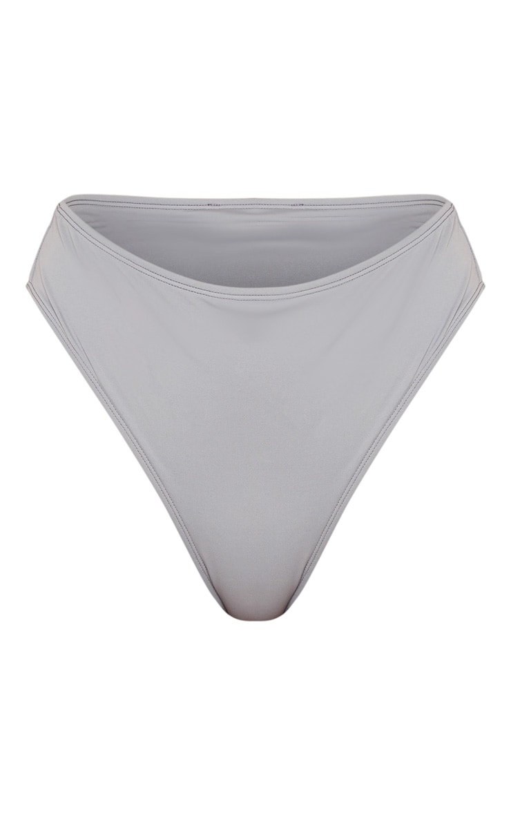 Charcoal High Waisted Cheeky Bum BikiniBottom 8