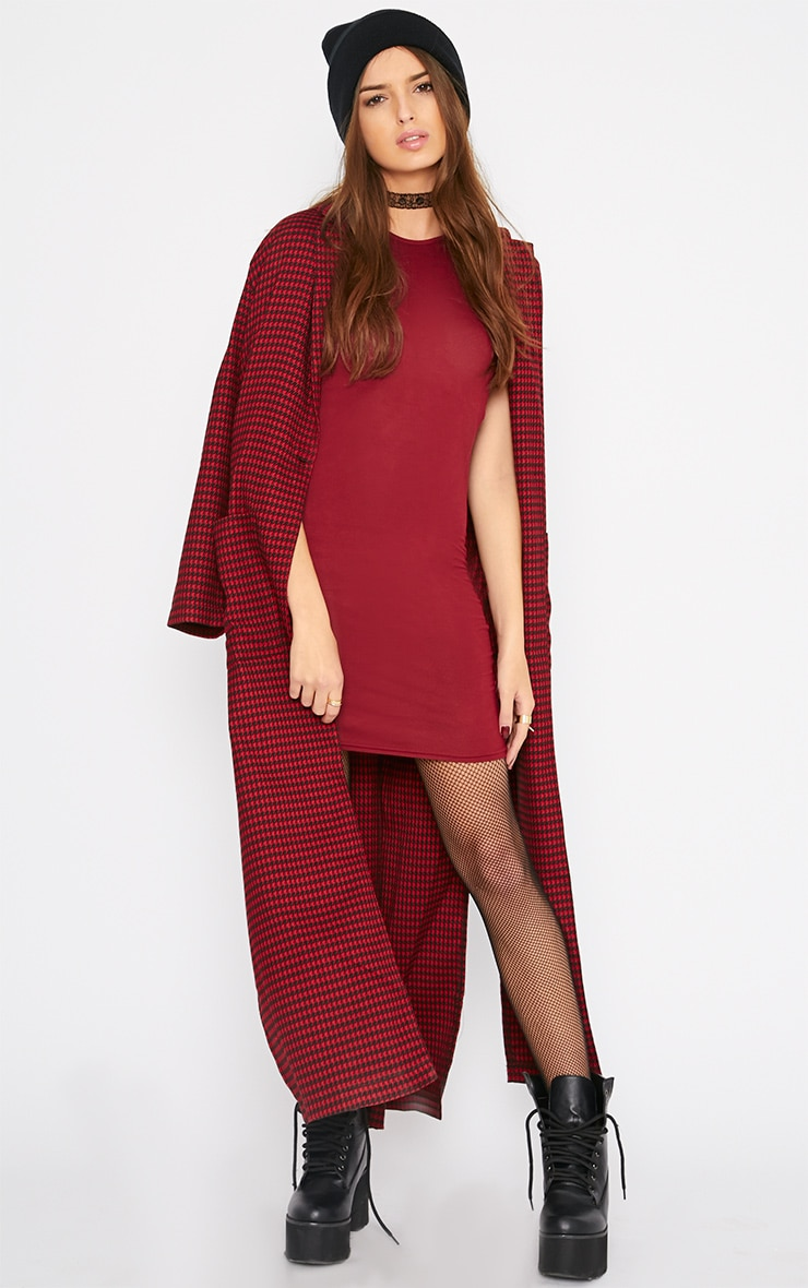 Basic Burgundy Jersey Dress 4