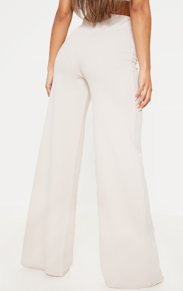 Stone High Waisted Wide Leg Trouser 4