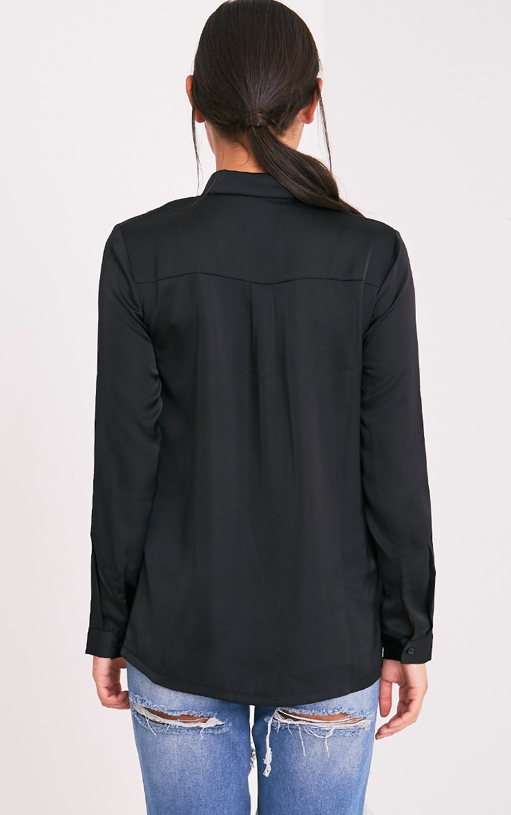 Dee Black Satin Shirt 2