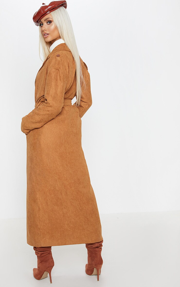 Tan Cord Belted Trench 2