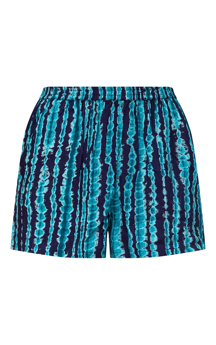 Green Tie Dye Shorts 3