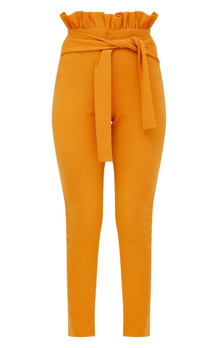 Mustard Paperbag Waist Skinny Trousers 3