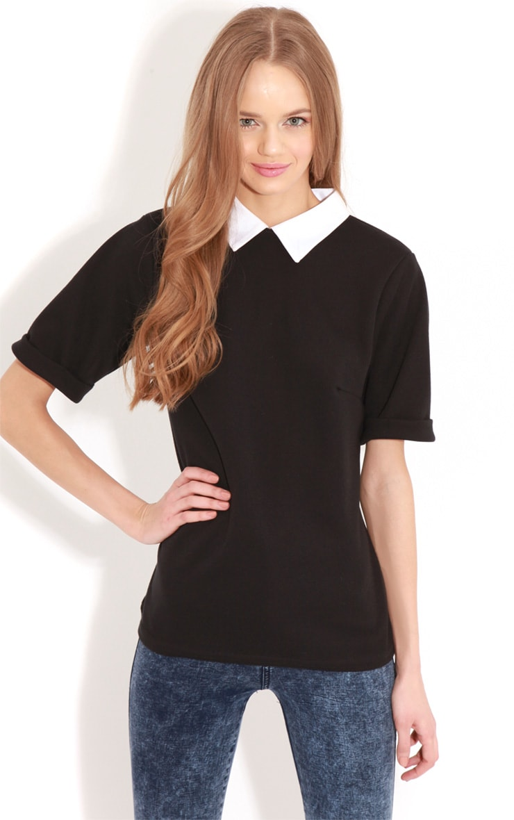 Albany Black Collar Top 1