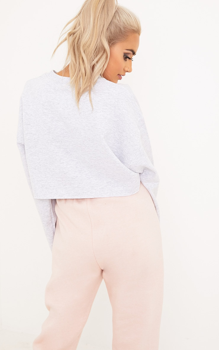 Future Female Slogan Grey Cropped Sweater 2