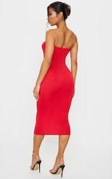 Red Bandeau Midaxi Dress 2