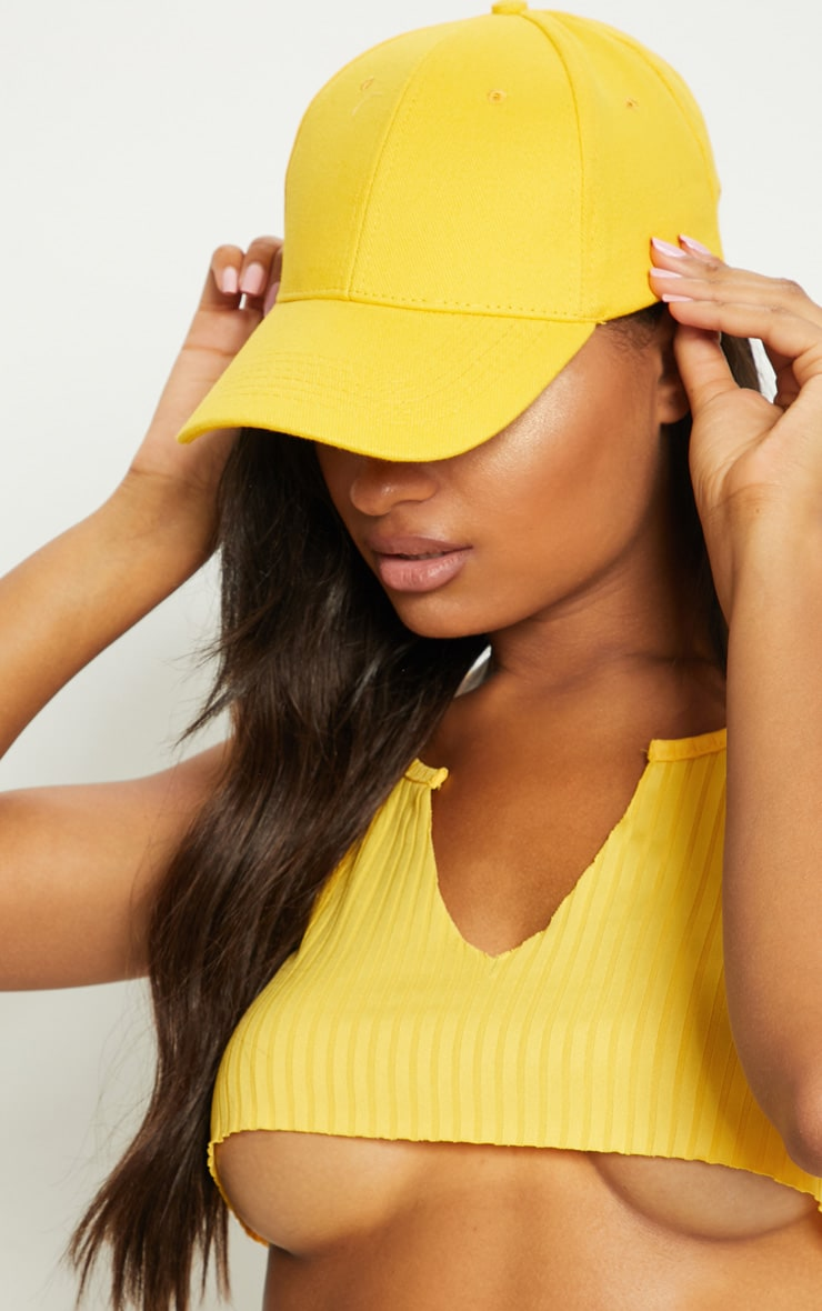 Yellow Baseball Cap 2