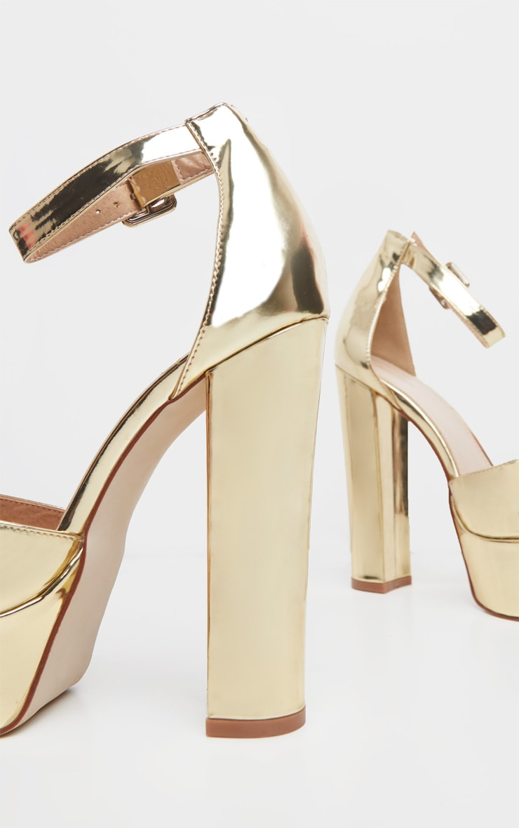 Gold Platform High Sandal 4