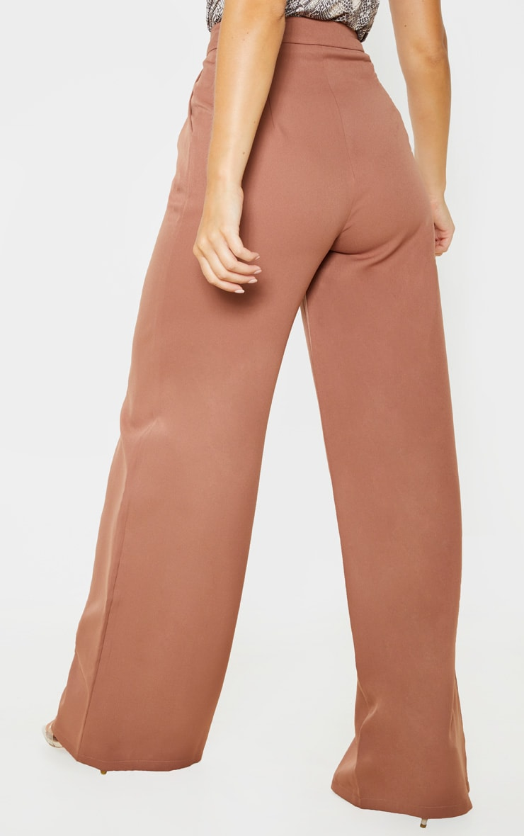 Taupe Woven Wide Leg Pants 5