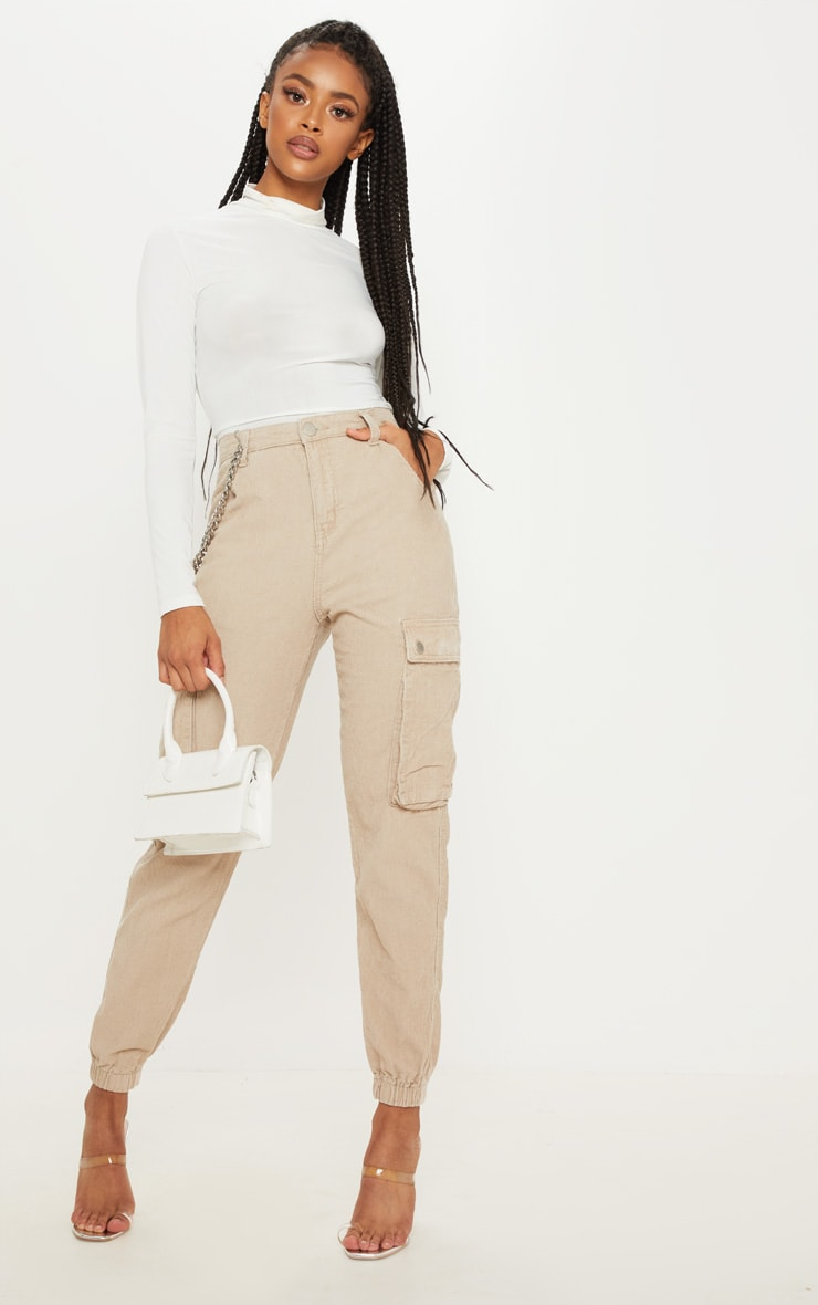 Stone Cord Cargo Pants 1