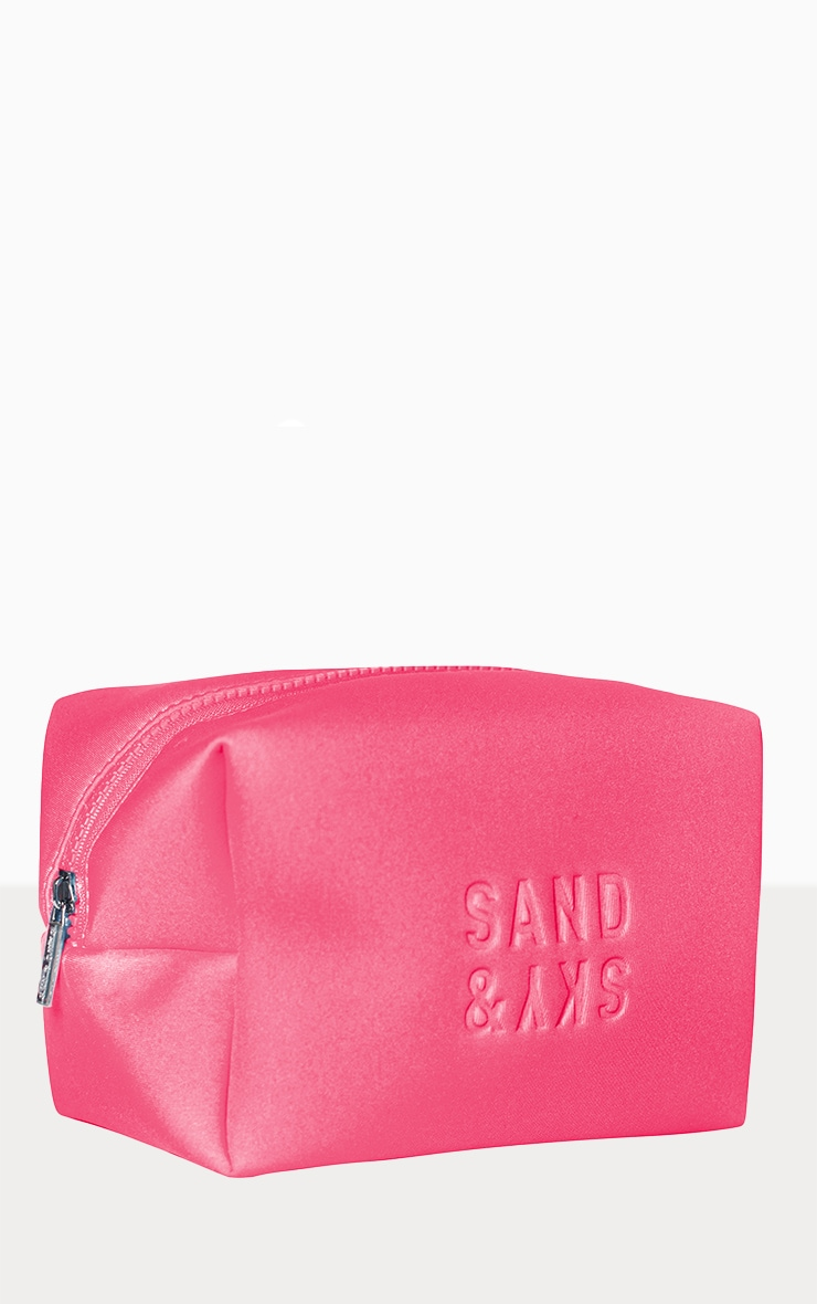 Sand & Sky Neoprene Holiday Makeup Pouch Australian Pink Clay Pink 1