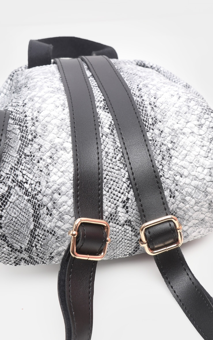 Grey Snake Mini Backpack 4