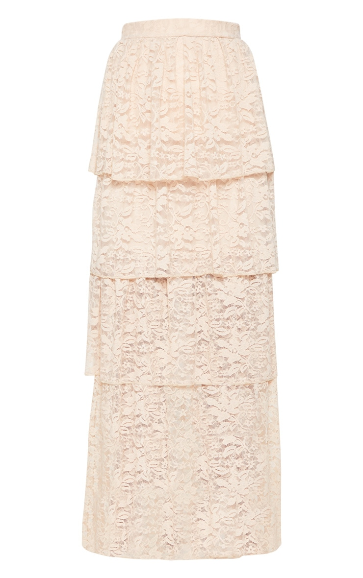 Stone Lace Tiered Maxi Skirt 3