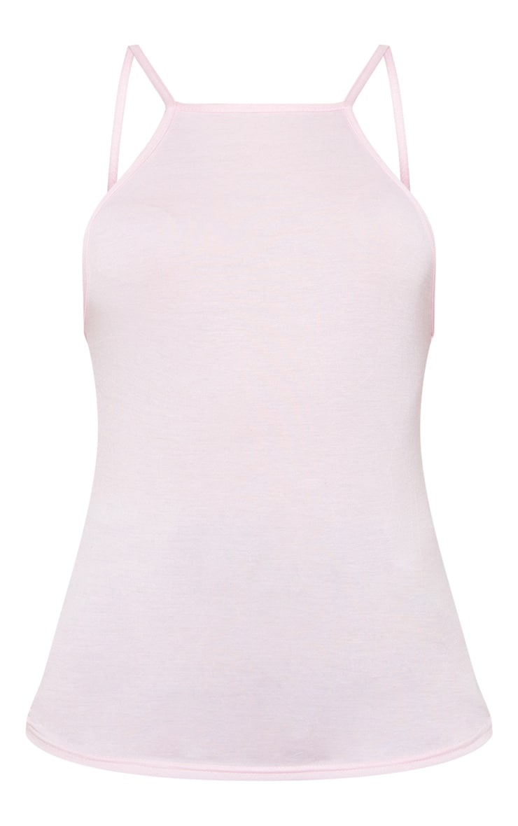 Baby Pink Jersey Low Back Vest 3