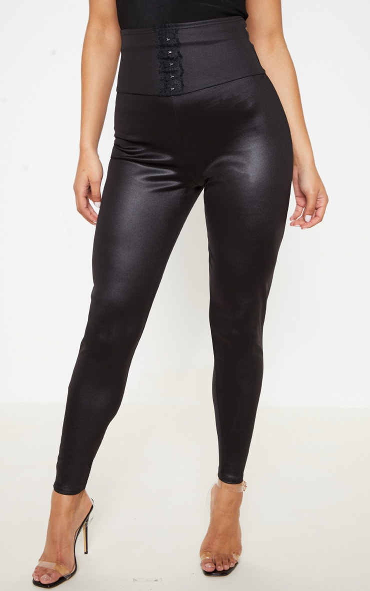 Black Hook And Eye Lace Detail Skinny Trouser 2
