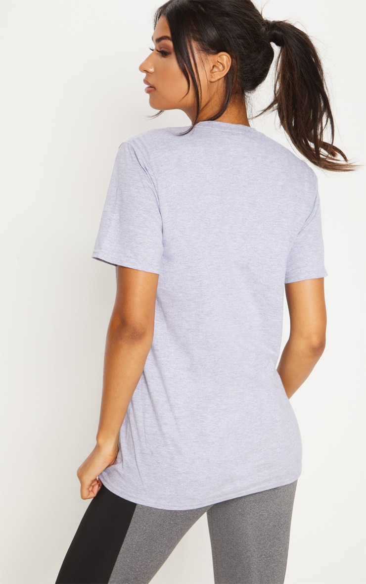 Grey Marl Yesterday Now Tomorrow Active T Shirt  2