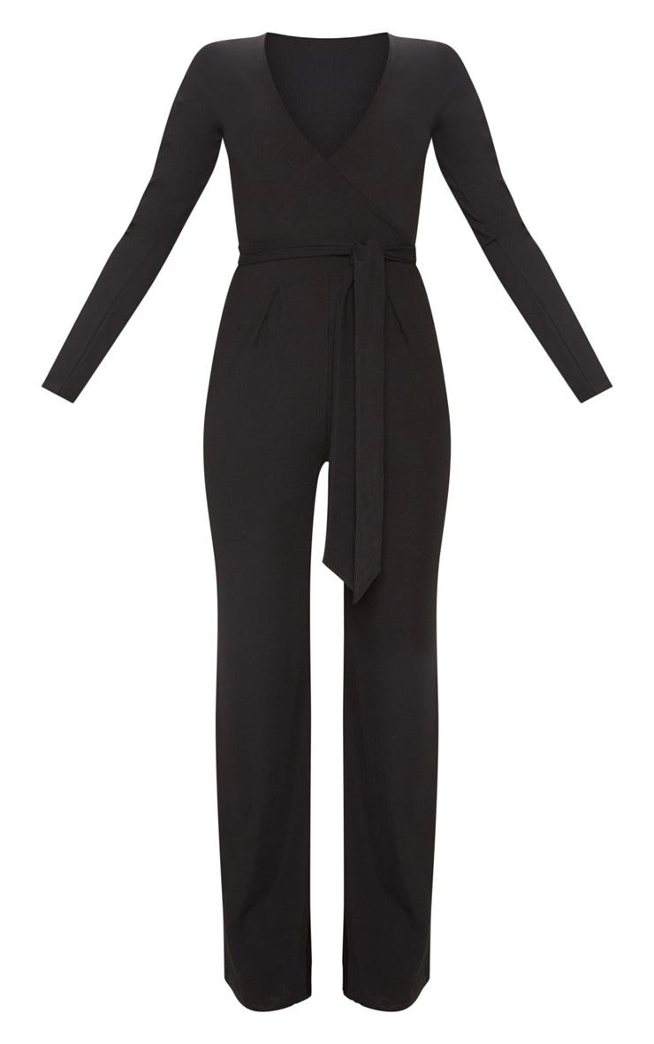 Black Tie Waist Jumpsuit 3