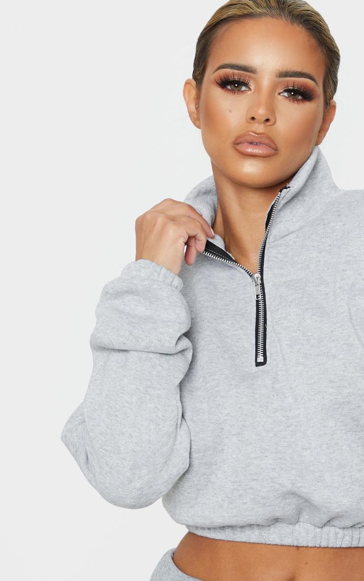 Petite Grey Half Zip Sweater 5