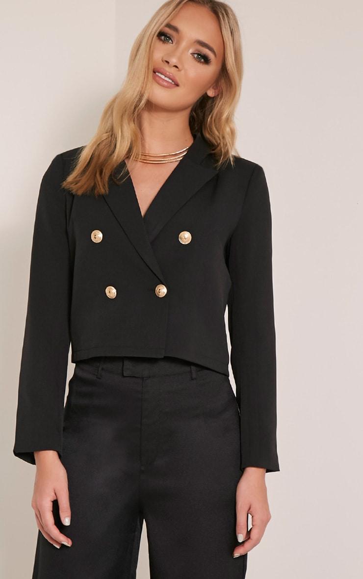 Dionne Black Cropped Military Style Blazer 4