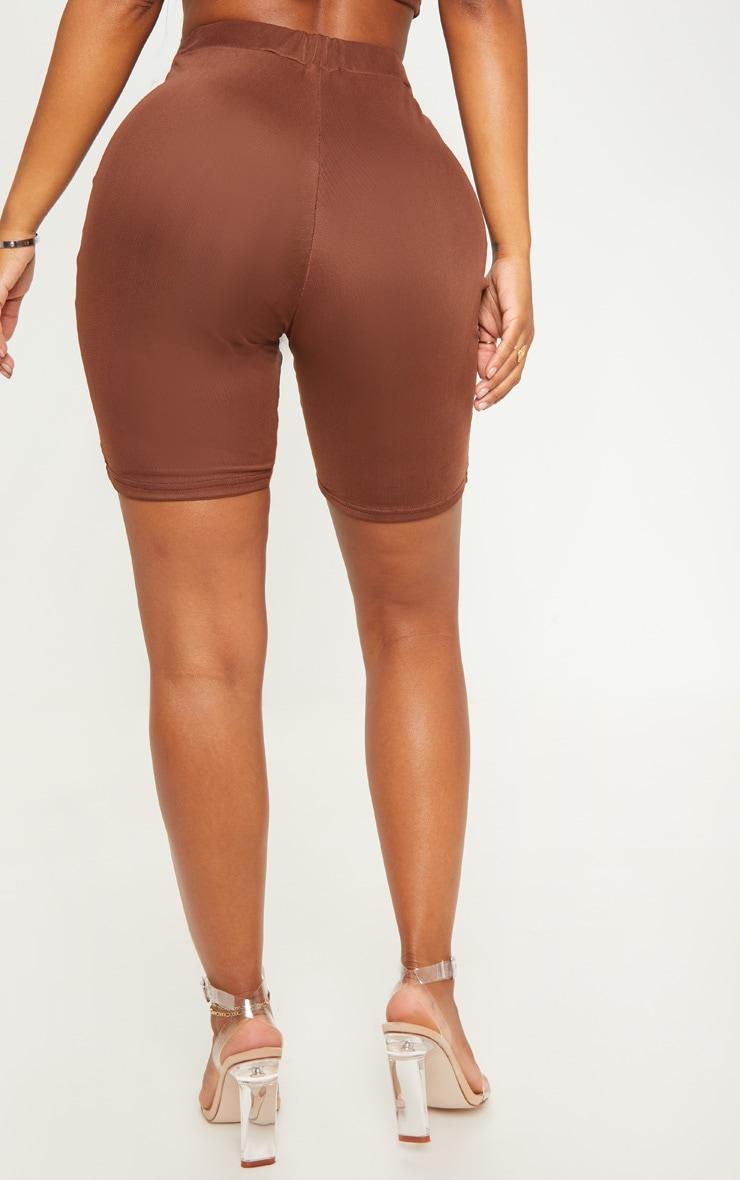 Shape Chocolate Brown Mesh Cycling Shorts 4