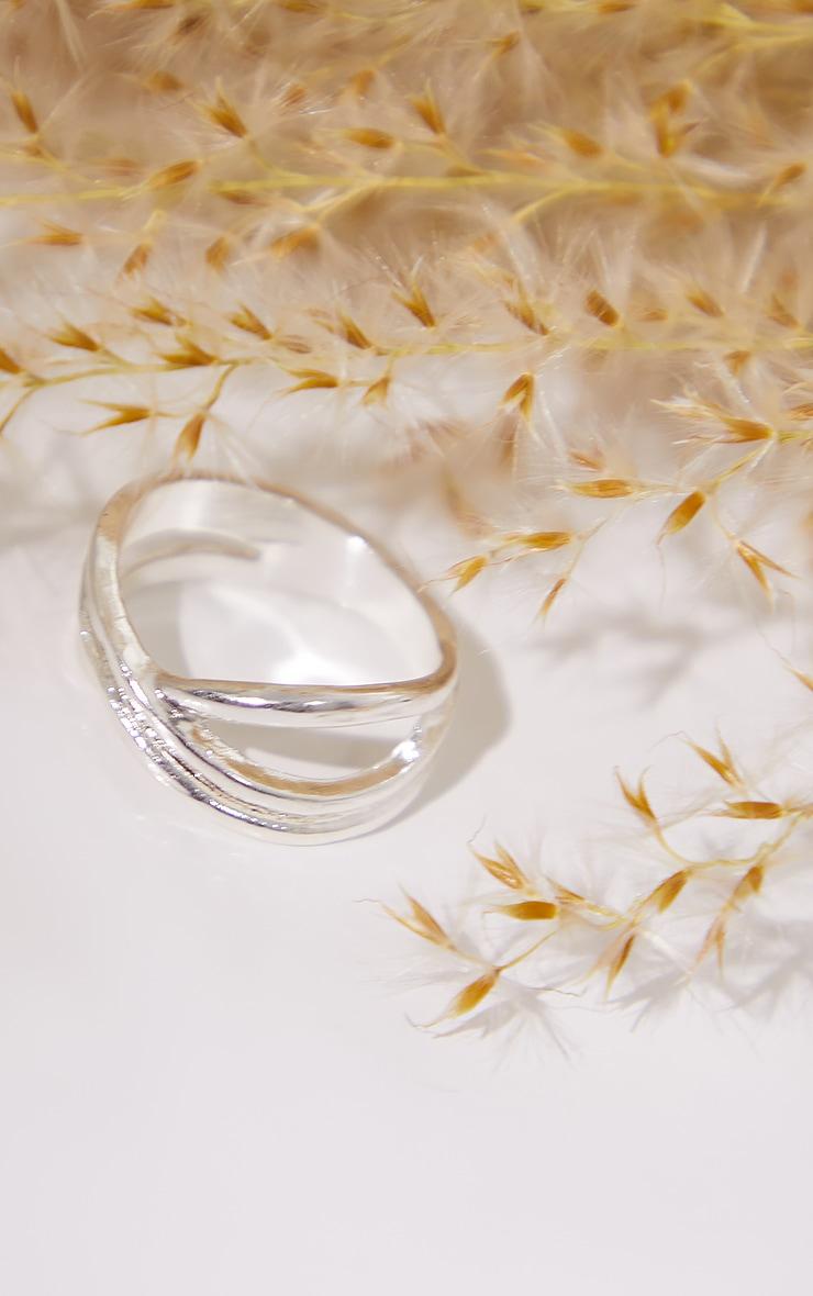 Silver Dainty Twist Ring 3