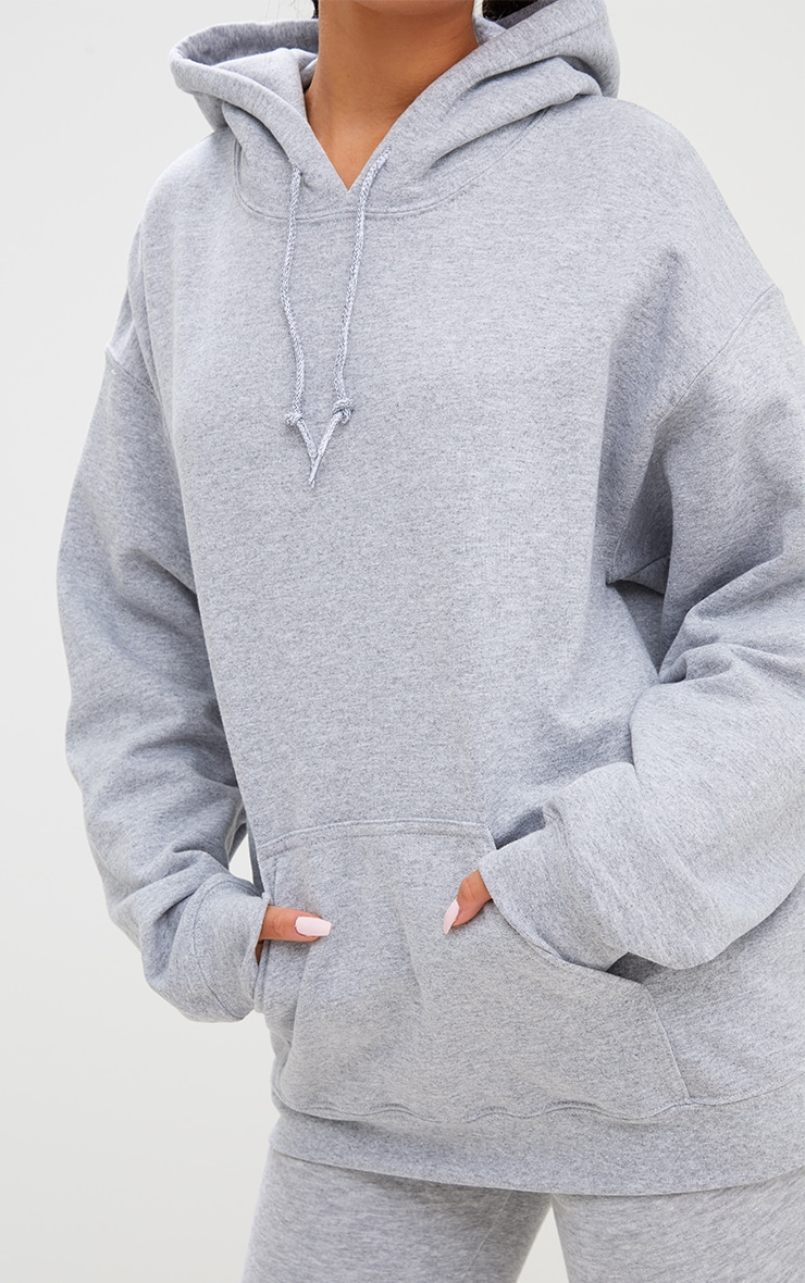 Grey Marl Ultimate Oversized Hoodie 4