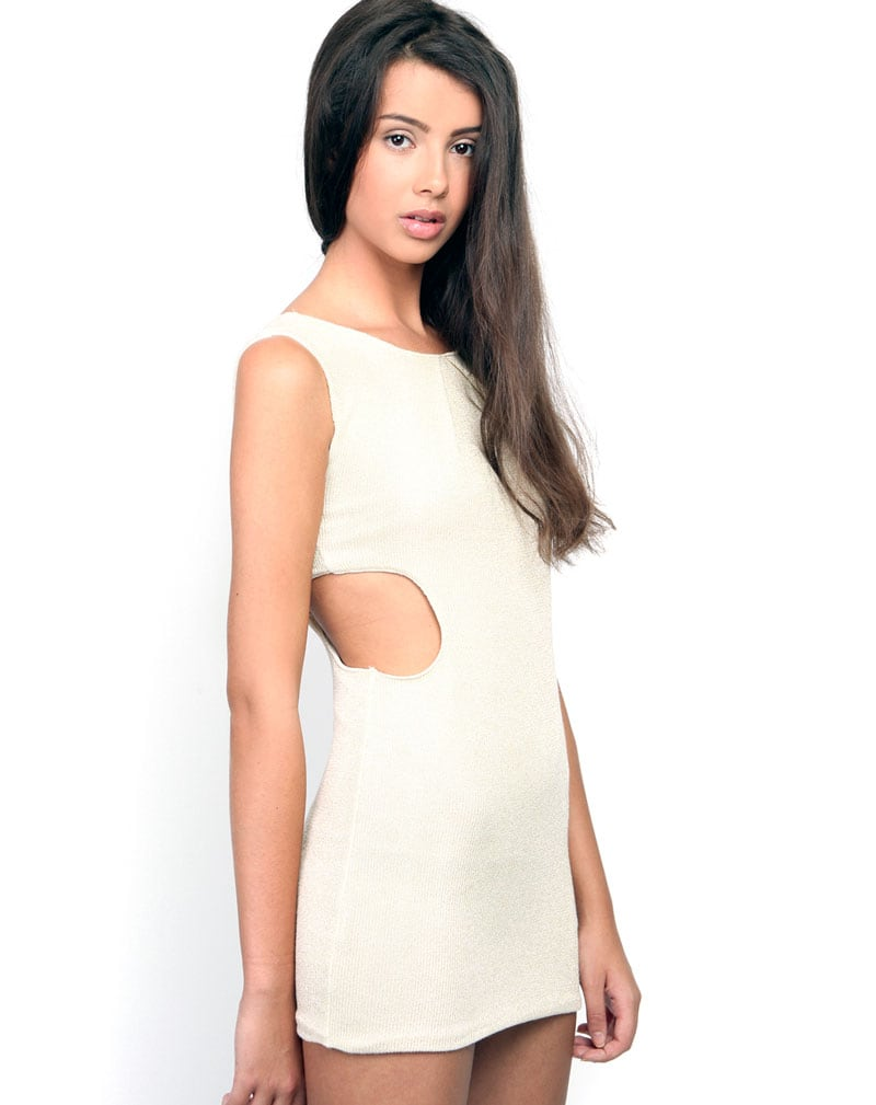 Sylvia Cream Cut Out Dress 2