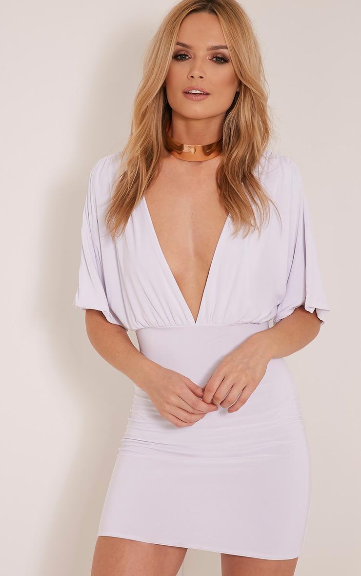 Eda White Kimono Sleeve Bodycon Dress 7