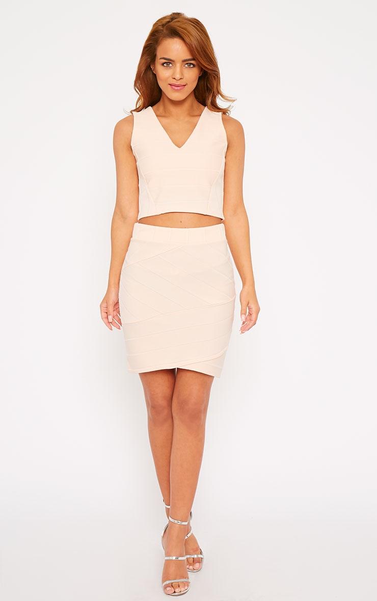 Kirsten Nude Bandage Mini Skirt 6
