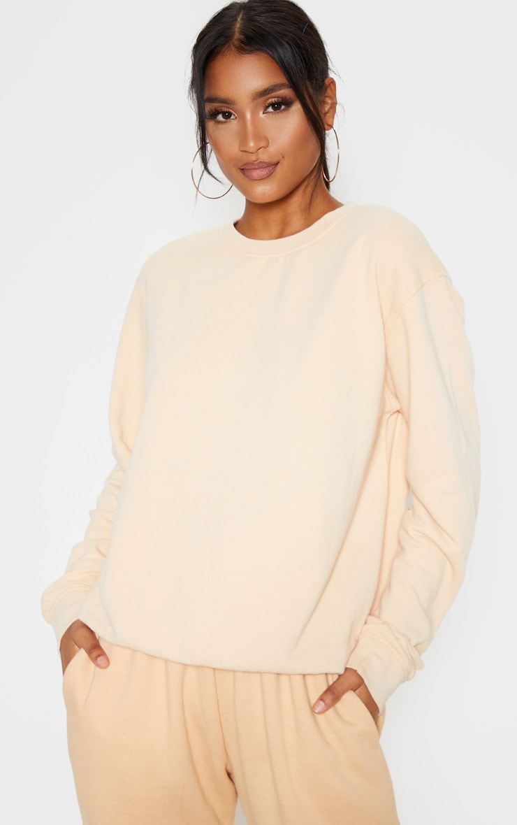 Fawn Washed Ultimate Sweater 1