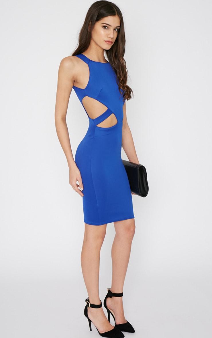 Saffron Cobalt Cut Out Midi Dress 4