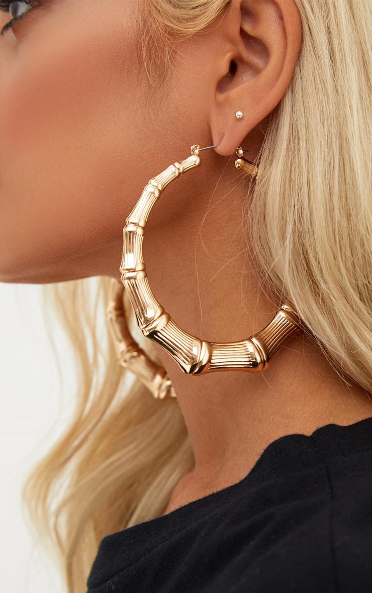 Gold Large Creole Hoop Earrings 4