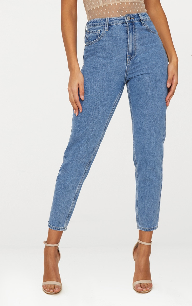 Straight Leg Mid Wash Jean 2