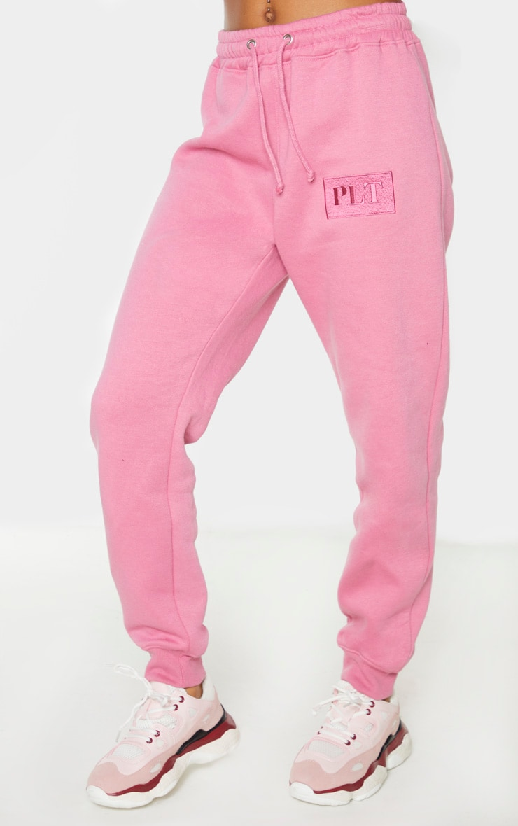 PRETTYLITTLETHING Pink Logo Joggers 2