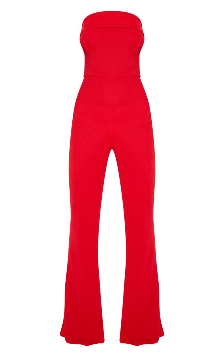 Combinaison rouge style bandeau à revers 3