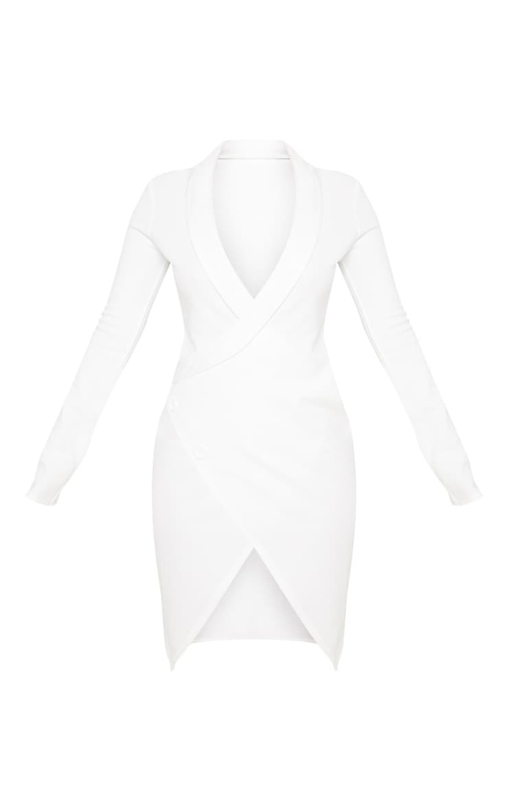Shape White Blazer Dress 3