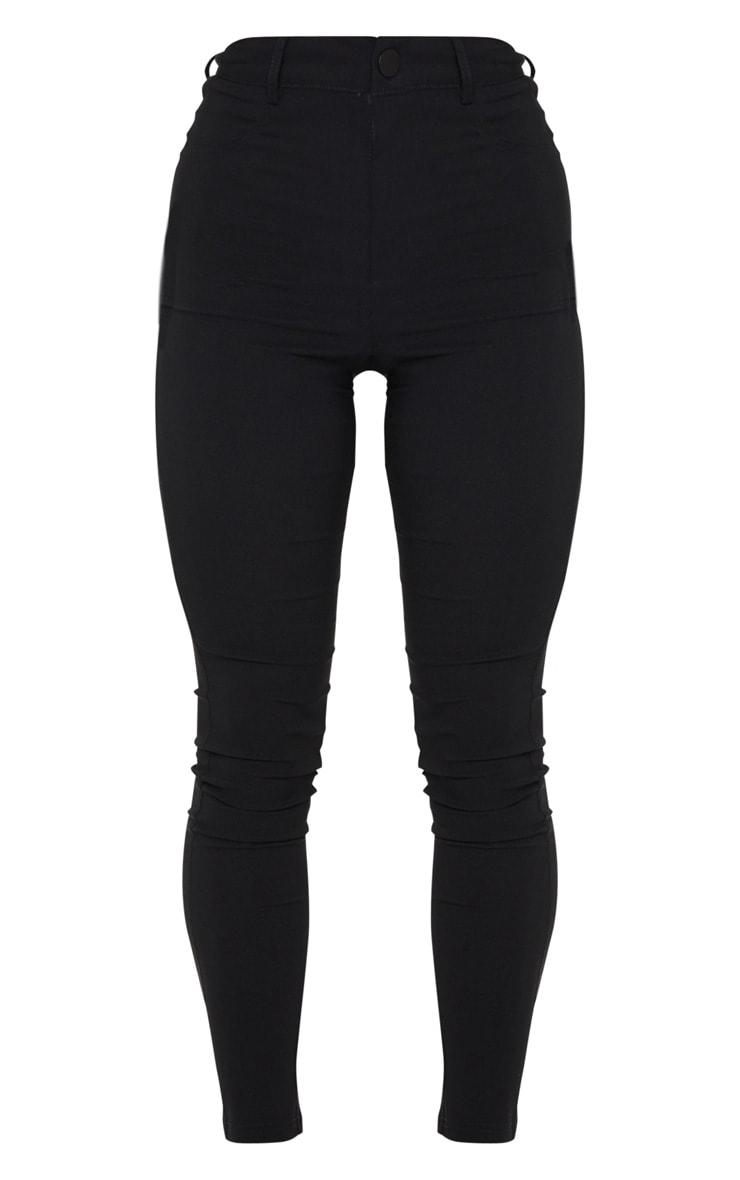 Black Popper High Waisted Stretch Trouser 5